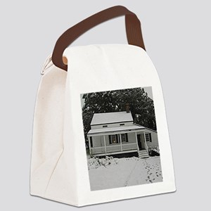 The Poe Cottage New York Canvas Lunch Bag