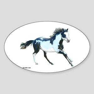 Ziggy The Stallion Oval Sticker