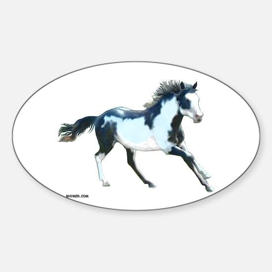 Ziggy The Stallion Oval Decal