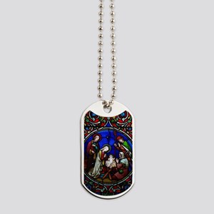 Stained Glass Nativity Dog Tags