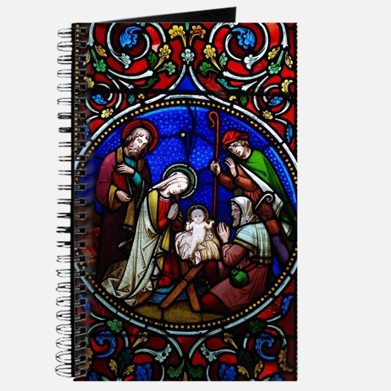 Stained Glass Nativity Journal
