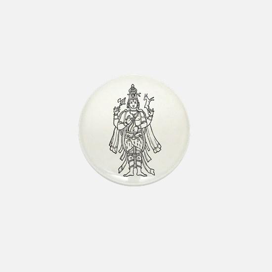 Shiva - Hindu Diety Mini Button