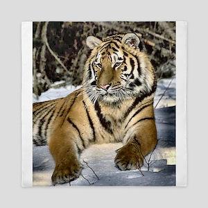 Siberian Tiger Art Queen Duvet