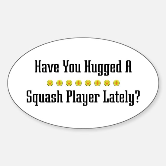 Hugged Squash Player Oval Decal