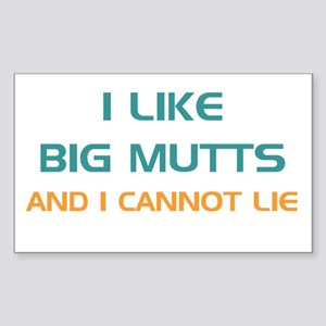 Big Mutts Rectangle Sticker