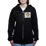 I Love Beavers Women's Zip Hoodie