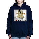 I Love Beavers Women's Hooded Sweatshirt