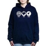 Peace Love Camel Women's Hooded Sweatshirt