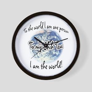 Shih Tzu World2 Wall Clock