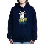 Kimono Cow Women's Hooded Sweatshirt