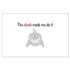 The shark made me do it Large Poster