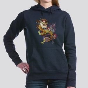 Colorful Chinese Dragon Women's Hooded Sweatshirt