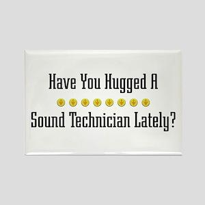 Hugged Sound Technician Rectangle Magnet