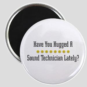 Hugged Sound Technician Magnet