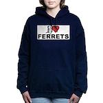 I Love Ferrets Women's Hooded Sweatshirt