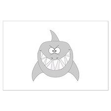 Cartoon Shark Large Poster