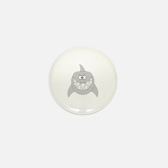 Cartoon Shark Mini Button