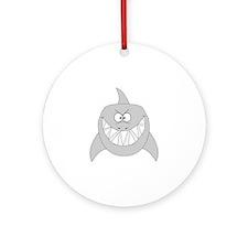 Cartoon Shark Ornament (Round)
