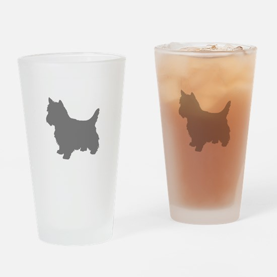 Cairn Terrier gray 1C Drinking Glass