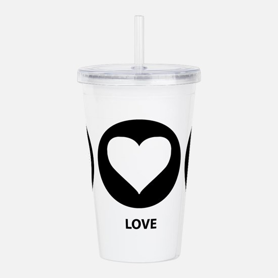 Peace Love Penguin Acrylic Double-wall Tumbler