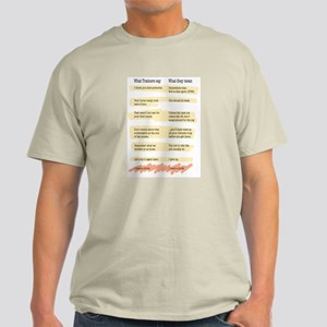 Trainer Quotes Light T-Shirt