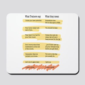 Trainer Quotes Mousepad