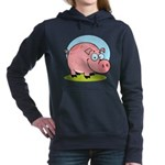 Happy Pig Women's Hooded Sweatshirt
