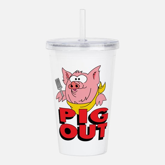 Pig Out Acrylic Double-wall Tumbler