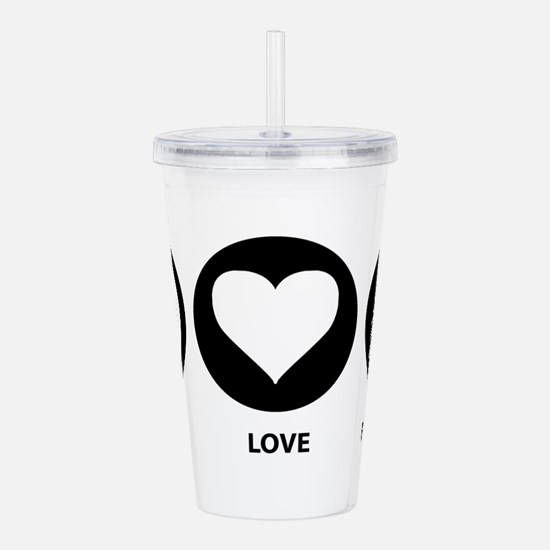 Peace Love Porcupine Acrylic Double-wall Tumbler