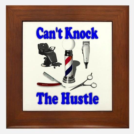 Cant Knock The Hustle-Blue Framed Tile