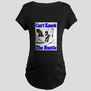 Cant Knock The Hustle-Blue Maternity Dark T-Shirt