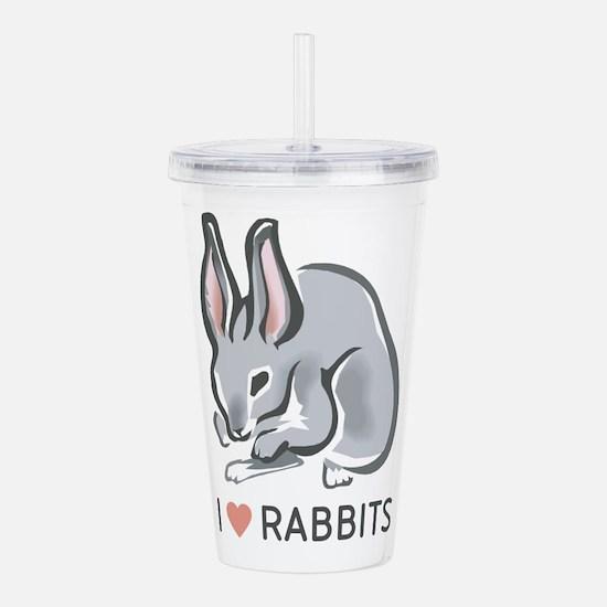 I Love Rabbits Acrylic Double-wall Tumbler