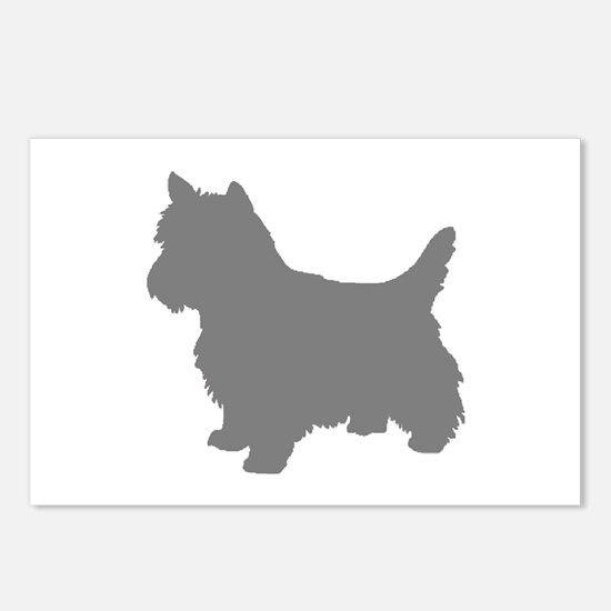 cairn terrier gray 2 Postcards (Package of 8)