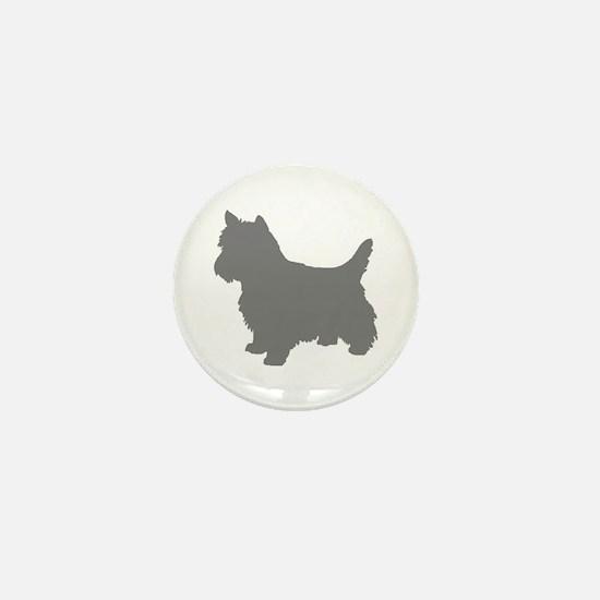 cairn terrier gray 2 Mini Button
