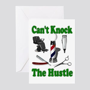 Cant Knock The Hustle-Green Greeting Cards (Packag