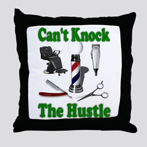 Cant Knock The Hustle-Green Throw Pillow