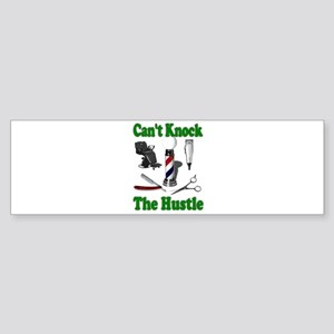 Cant Knock The Hustle-Green Bumper Sticker