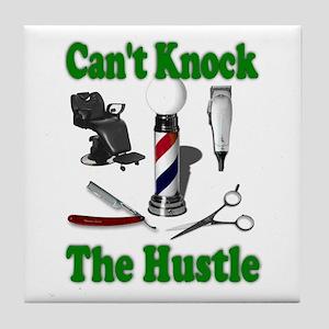 Cant Knock The Hustle-Green Tile Coaster