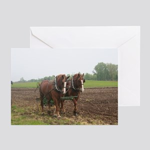Plowing the Field Greeting Cards (Pk of 10)