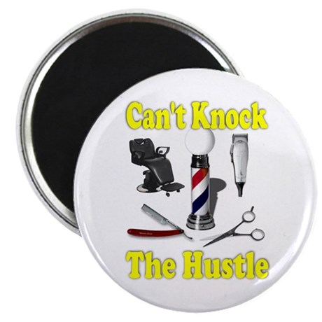 """Cant Knock The Hustle-Yellow 2.25"""" Magnet (100 pac"""