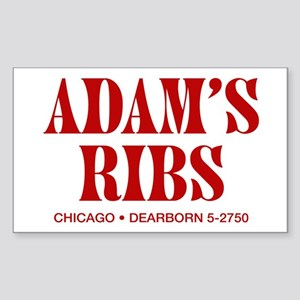 Adam's Ribs Rectangle Sticker