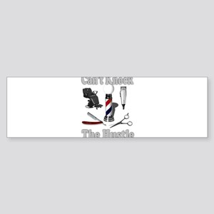Cant Knock The Hustle-Grey Bumper Sticker