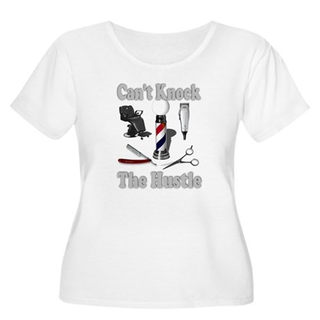 Cant Knock The Hustle-Grey Women's Plus Size Scoop