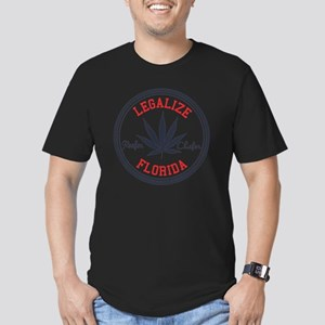 Legalize Florida Men's Fitted T-Shirt (dark)