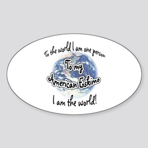 Eskimo World2 Oval Sticker