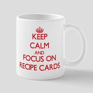 Keep Calm and focus on Recipe Cards Mugs