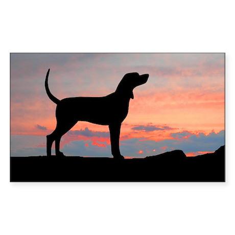coonhound sunset wd5 Sticker