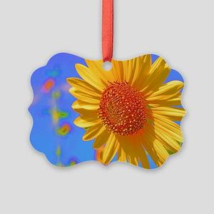 Wild Colors Sunflower Picture Ornament