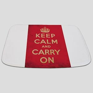 Keep Calm And Carry On Bathmat