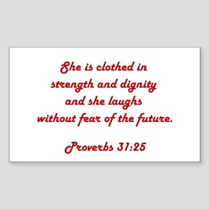 PROVERBS 31:25 Sticker (Rectangle)